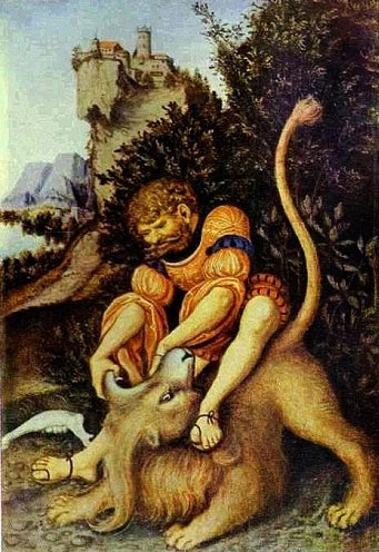 samson-lion