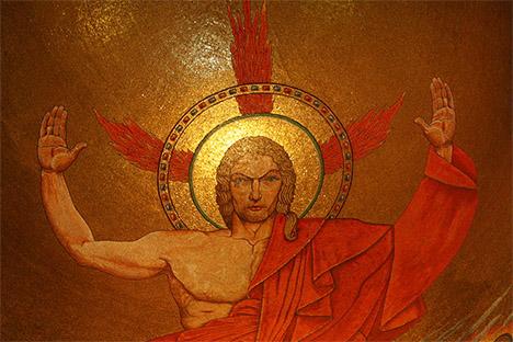 Christ enthroned-Lourdes-S