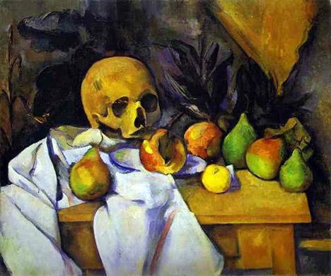 Cezanne-StillLifewithaSkull