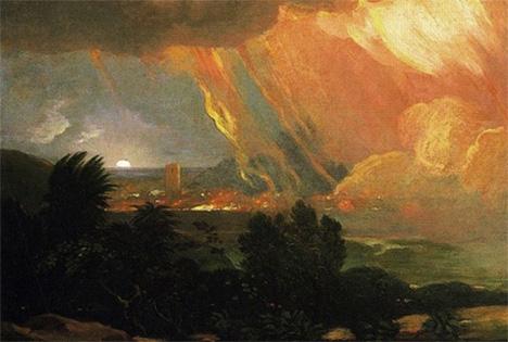 Sodom fire art