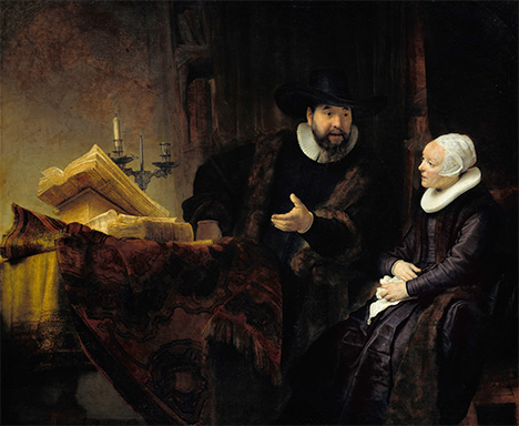 The Mennonite Preacher Anslo and his Wife - Rembrandt
